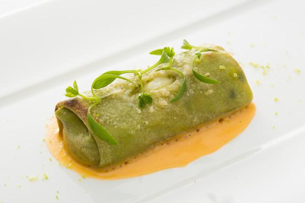 タレッジョチーズとほうれん草のカンネッローニ