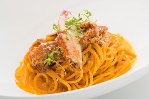 渡り蟹のトマトクリームソース 自家製麺のキタッラ